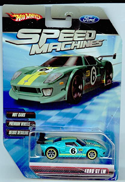 Hot Wheels Speed Machines Ford Gt Lm Light Blue  Scale