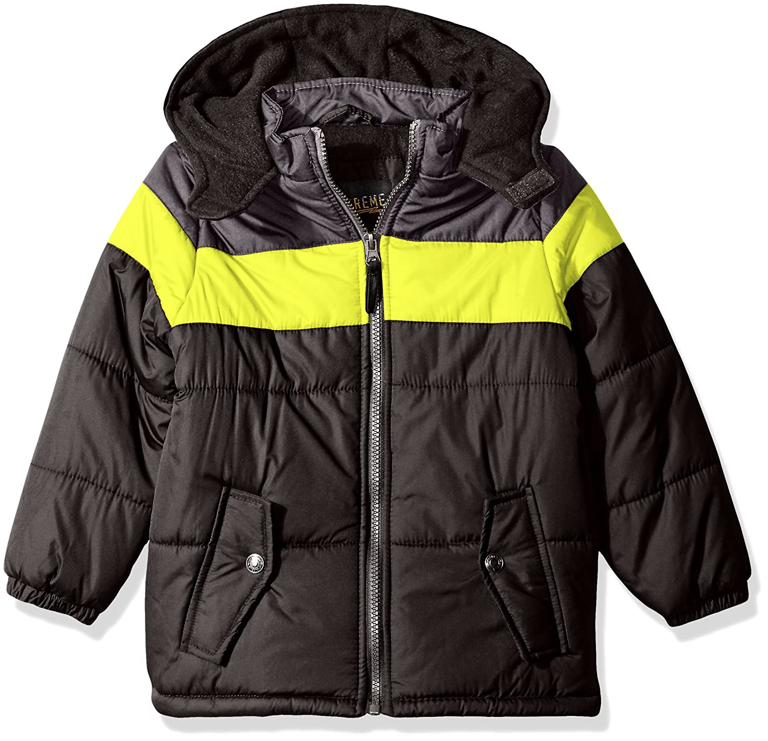3bee68d8c Amazon.com  iXtreme Boys  Colorblock Gwp Puffer  Clothing