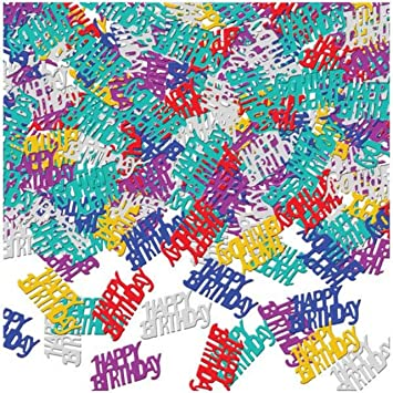 Amscan - 9900458 Happy cumpleaños metálico confeti 14 G ...