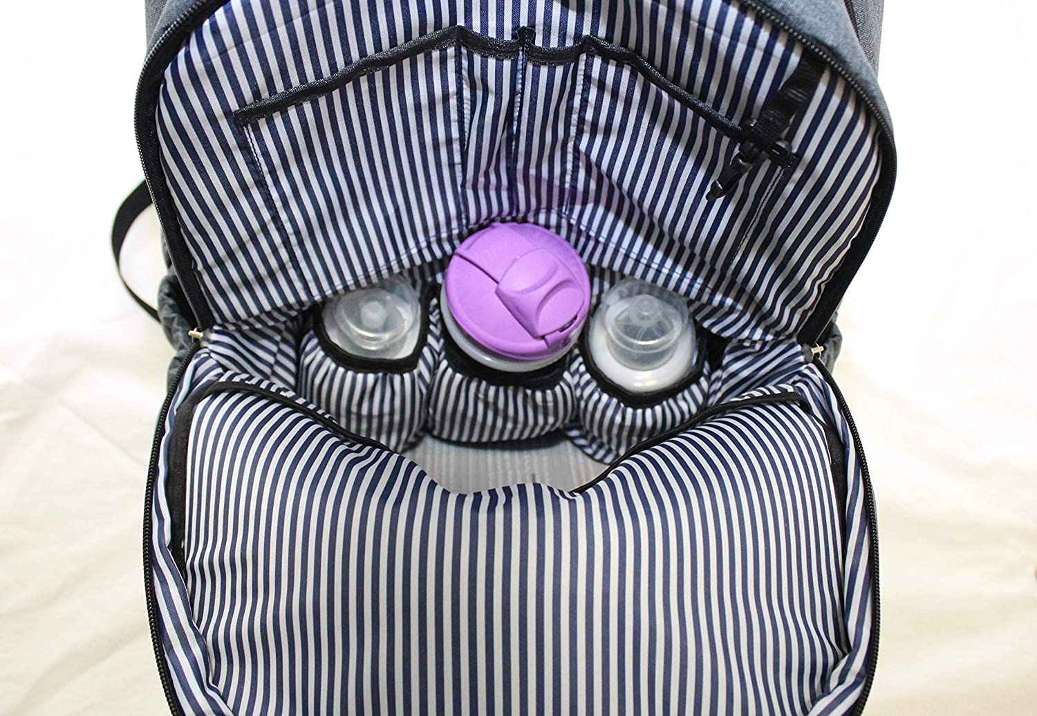 Large Capacity Tote Water Resistant Insulated Pockets Diaper Bag Backpack for Baby by Khotso DarkGrey W Stroller Straps /& Change Pad Free eBook