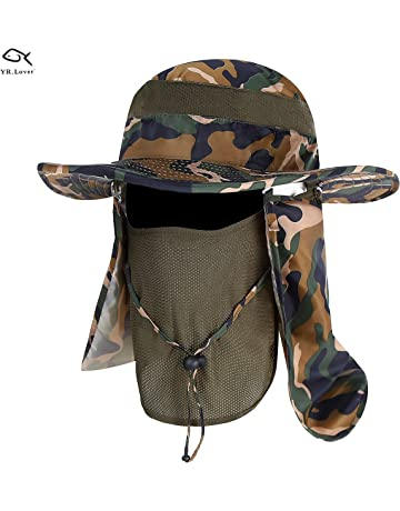 ccc6767e04e Lover Outdoor UV Sun Protection Wide Brim Fishing Cap -Men and Women Face