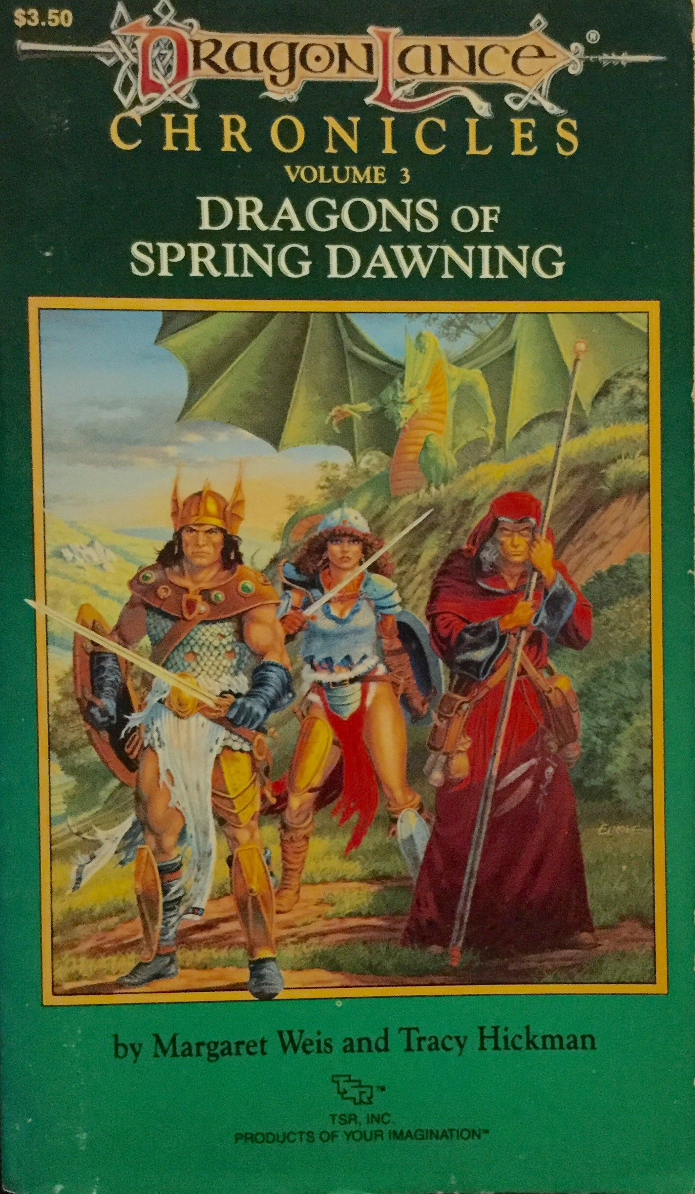 Dragons of Spring Dawning, Dragon Lance Chronicles, Volume 3: Margaret and  Hickman, Tracy Weis: Amazon.com: Books
