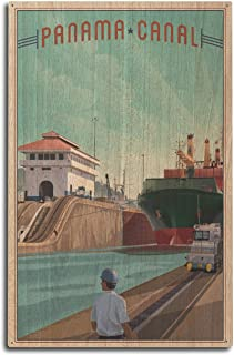 product image for Lantern Press Panama Canal - Litho 101229 (10x15 Wood Wall Sign, Wall Decor Ready to Hang)