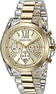 3397fc0febb0 Michael Kors Women s Bradshaw Clear Acetate and Goldtone Chronograph Watch