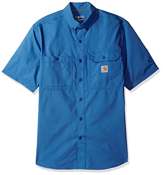 8eee583755 Amazon.com  Carhartt Men s Force Ridgefield Solid Short Sleeve Shirt ...