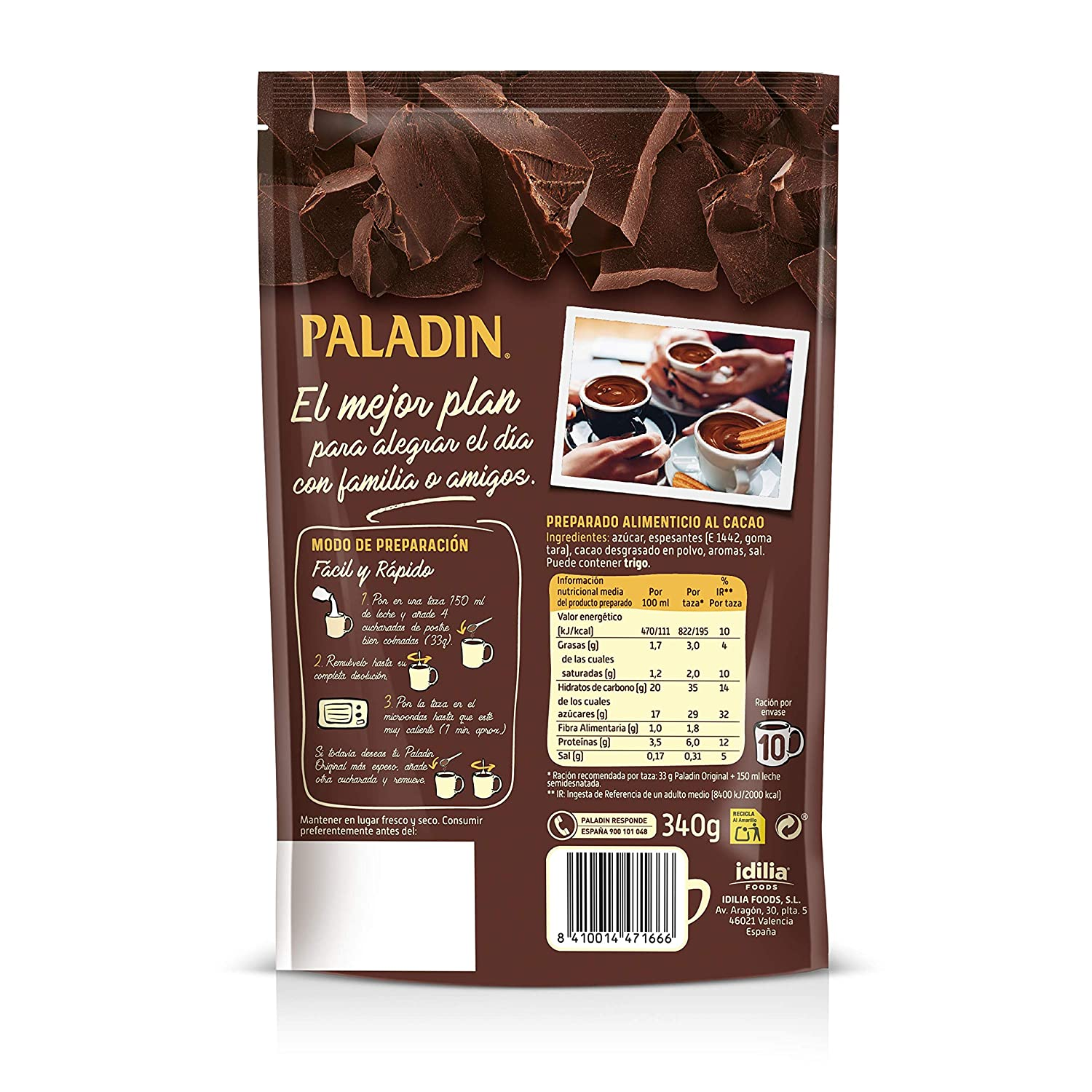 Paladin Paladin (Hot Chocolate Drink) 475 g