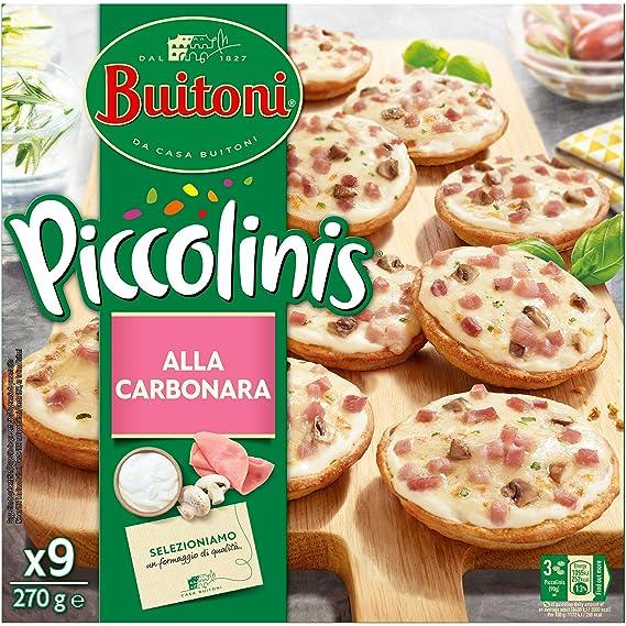 Buitoni Piccolinis Bolognesa - Mini Pizza Congelada con carne picada y salsa boloñesa - 9x30g: Amazon.es: Alimentación y bebidas
