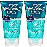 King of Shaves Antibacterial Shaving Gel for Men 150ml - TWIN-PACK