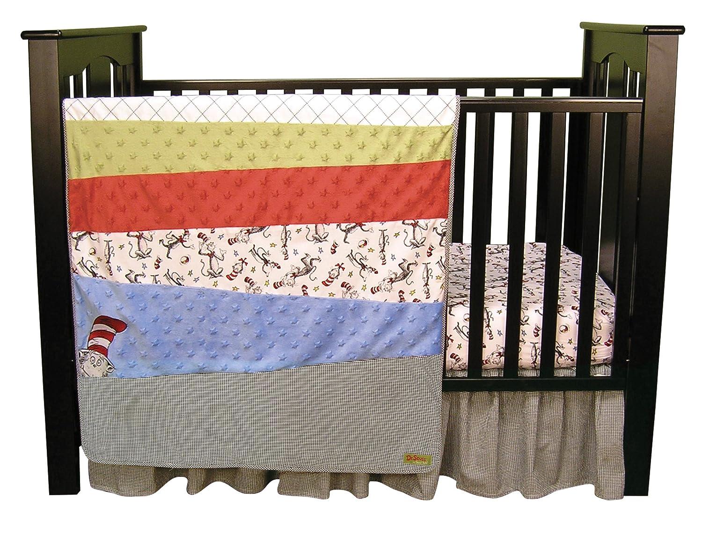 amazon com trend lab dr seuss cat in the hat 3 piece crib bedding rh amazon com