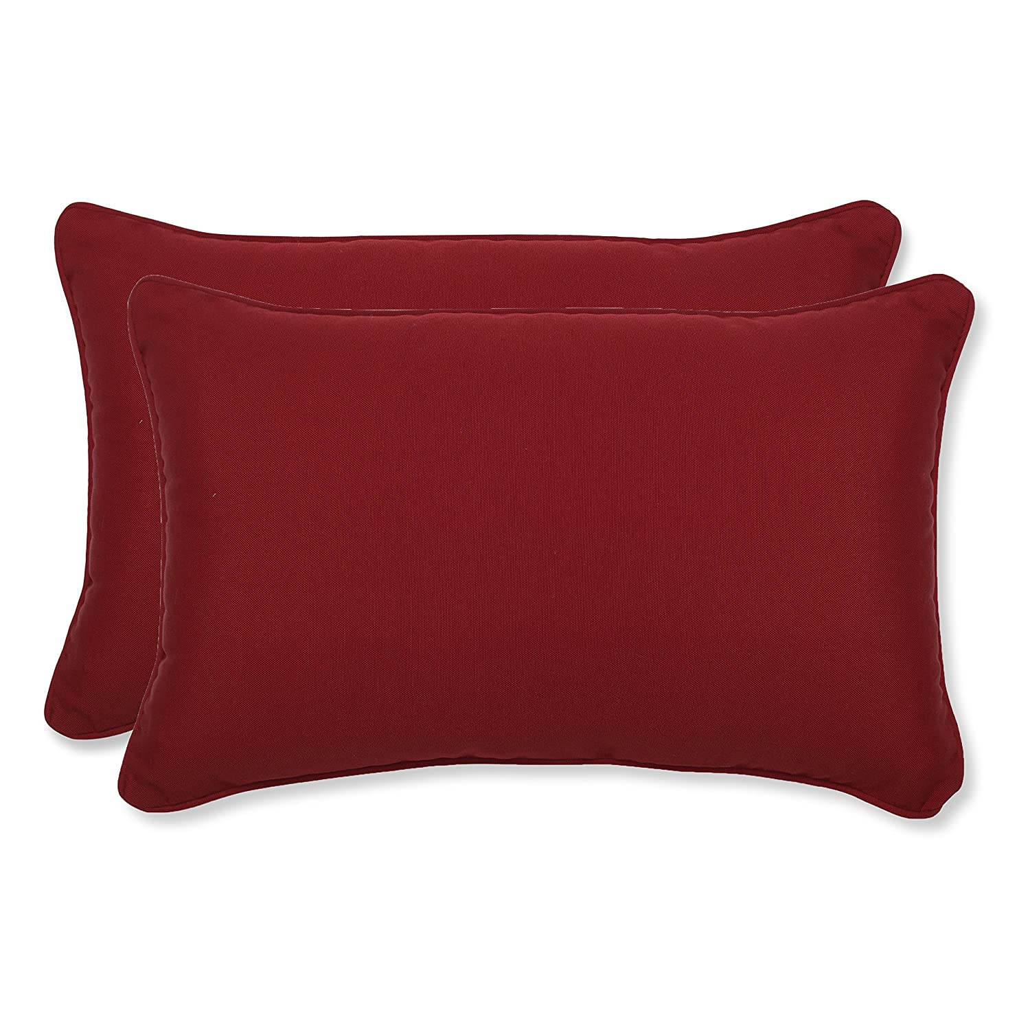 2add8e85655386 Amazon.com: Pillow Perfect Decorative Red Solid Toss Pillows, Rectangle,  2-Pack: Home & Kitchen