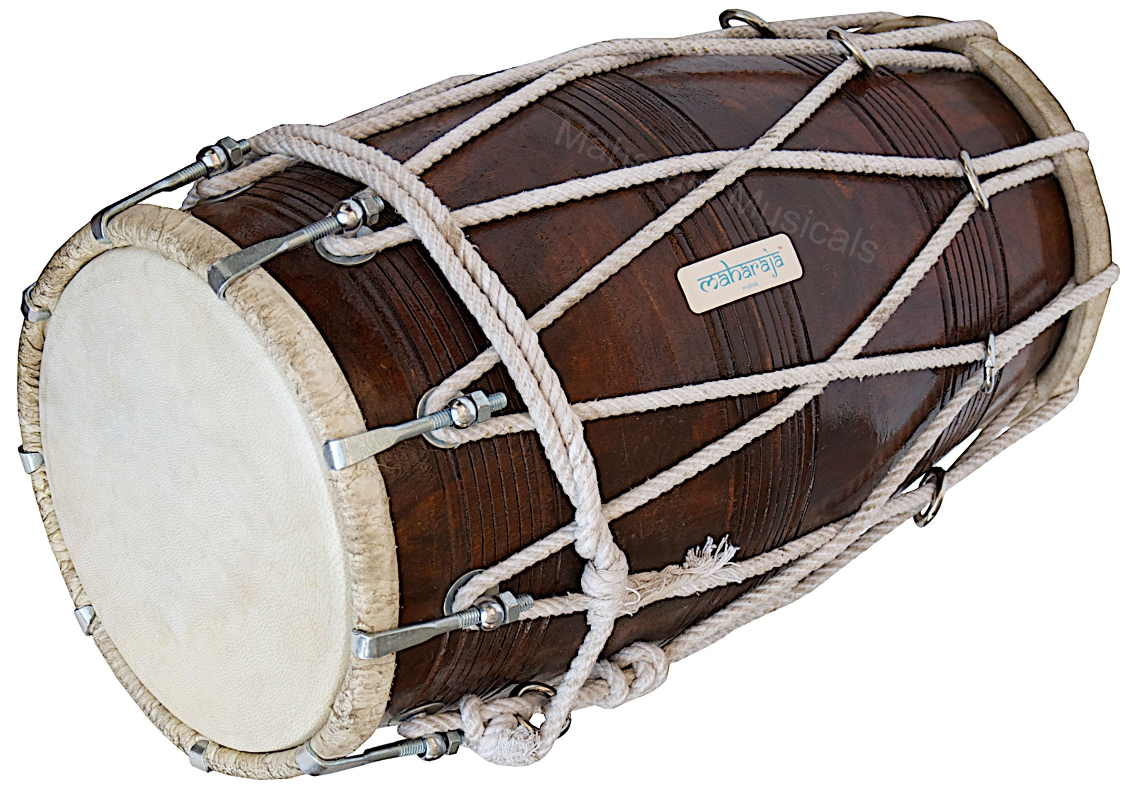 Special Dholak Drum by Maharaja Musicals, Professional Quality, Sheesham Wood, Padded Bag, Spanner, Dholki Musicals Instrument (PDI-BBC) by Maharaja Musicals (Image #8)