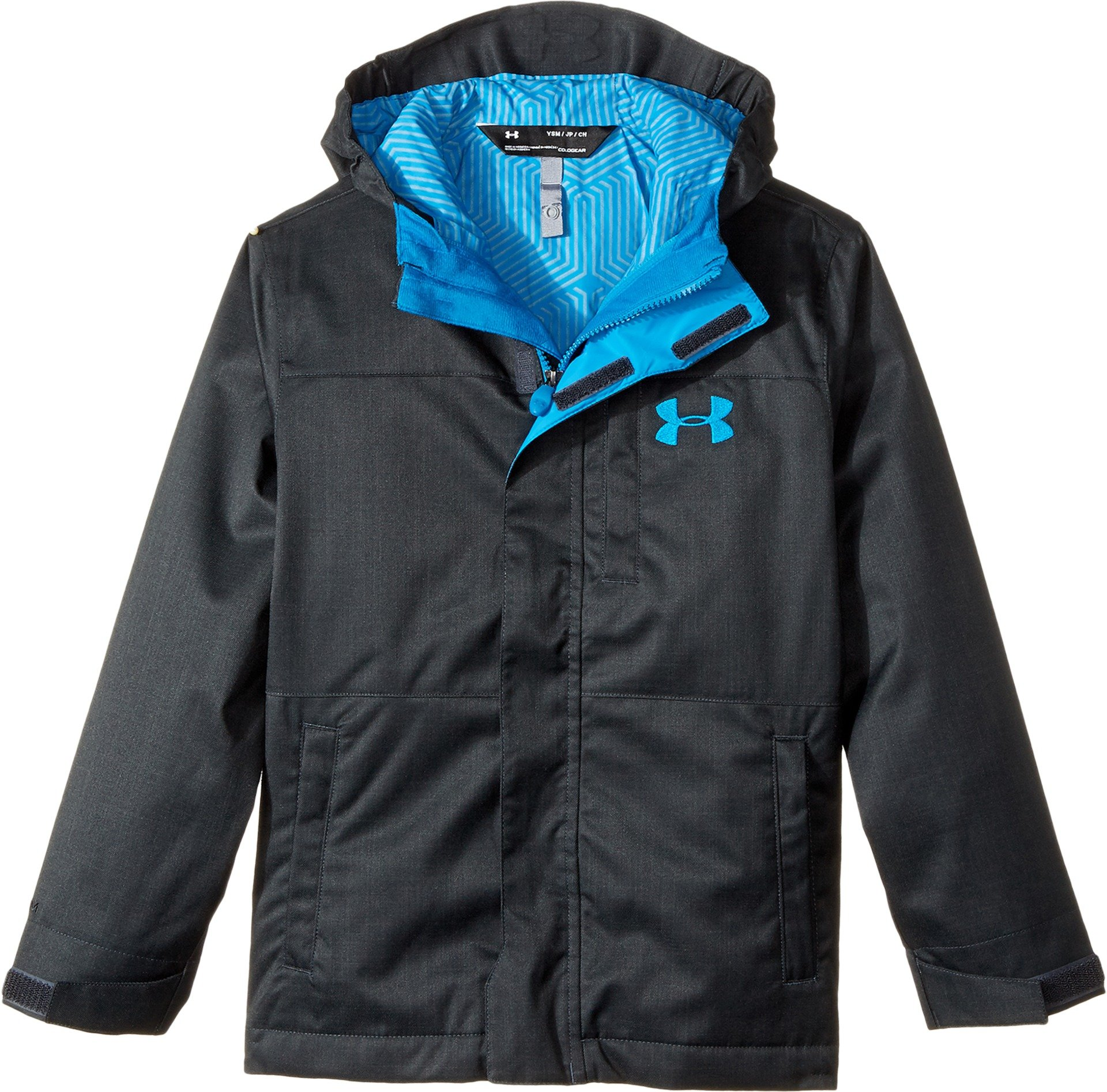 Under Armour Boys' Storm Wildwood 3-in-1 Jacket, Anthracite/Cruise Blue, Youth Large by Under Armour