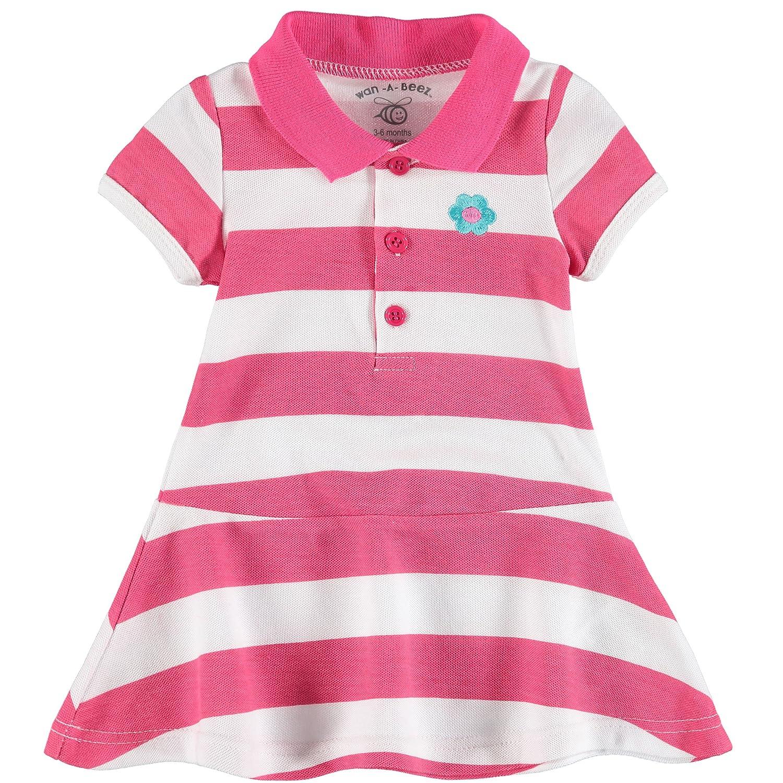 130e21440bfa Amazon.com  Wan-A-Beez Baby Girls  Pique Polo Dress Set  Clothing