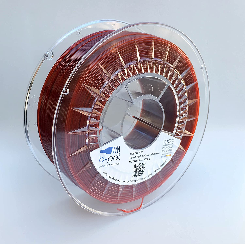 B-Pet - Filamento impresión 3D - PET 100% reciclado - 1Kg (1.75 ...