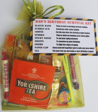 Dads Birthday Survival Kit A Gift To Make Them Smile Cheeky Fun Funny With
