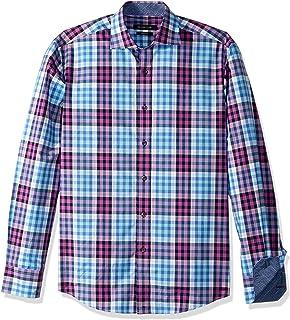 BUGATCHI Mens Blurred Lines Button Down Shirt