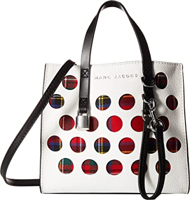 90af2bff Amazon.com: Marc Jacobs Women's Mini Grind Perforated Tartan Porcelain  Multi One Size: Shoes