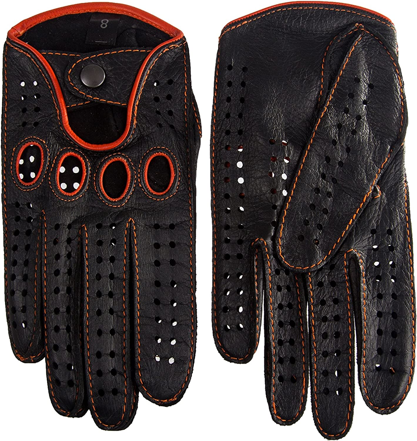 Classic English Leather Driving Gloves Chauffeur Vintage Fashion Gloves