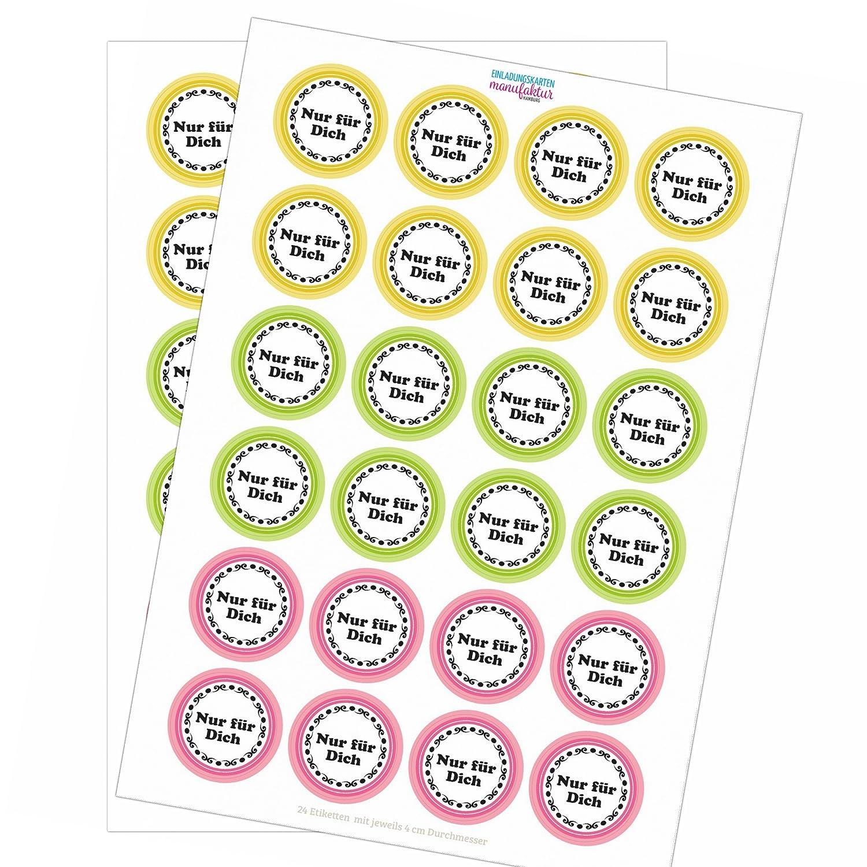 48 Sticker - Schöne Vintage Geschenk Etiketten Aufkleber (Nur für ...