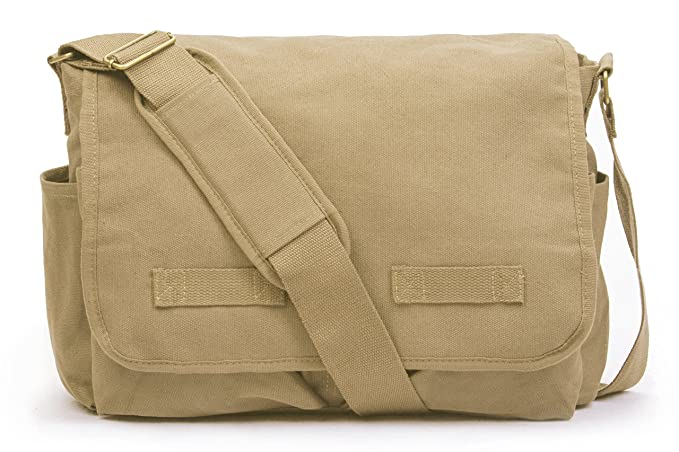 eaf58a4a4ea7 Amazon.com: Sweetbriar Classic Messenger Bag - Vintage Canvas ...