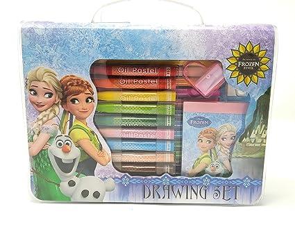 hmi original disney frozen licensed colour drawing set with colour