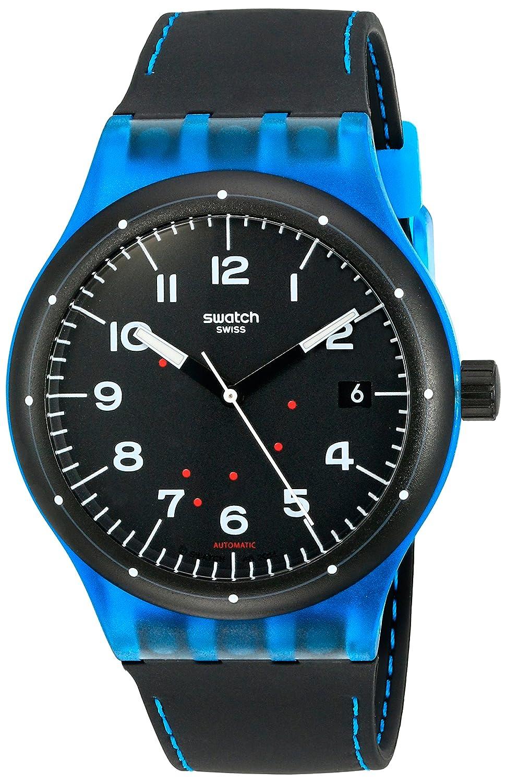 Swatch Unisex-Armbanduhr Analog Quarz Silikon SUTS402