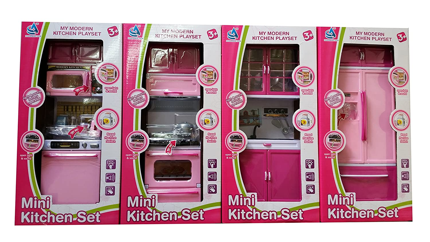 Buy Modern Kitchen Set with 4 Compartments Musical and Lightsbig