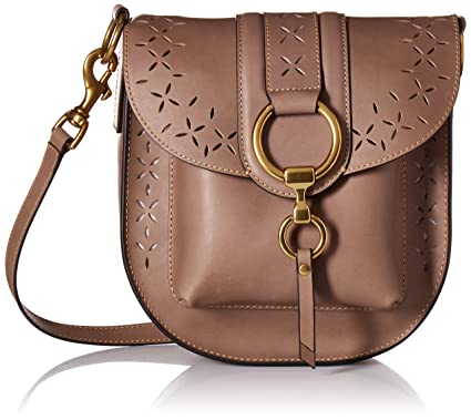 2dcac4dbef Image Unavailable. Image not available for. Color  FRYE Ilana Perf Saddle  Crossbody Bag ...