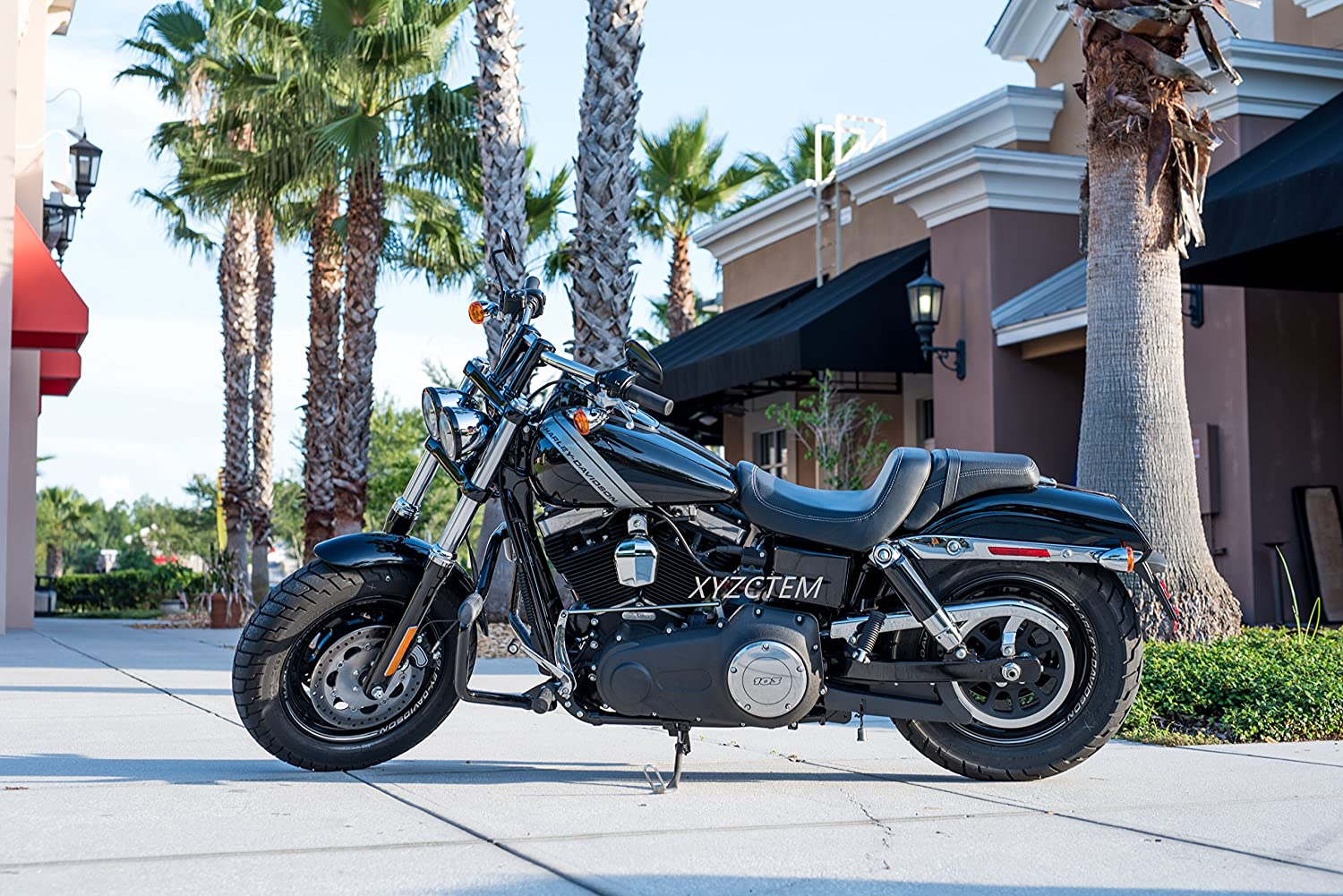 XYZCTEM All Weather Black XXXL Large Waterproof Outdoor Protects Fits up to 118 inch for Harley Davidson Suzuki,Yamaha and More New Generation Motorcycle cover Honda