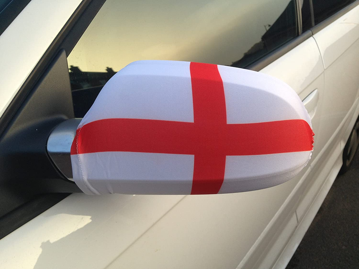 England Car Mirror Flag (Twin Pack) Car Badge UK