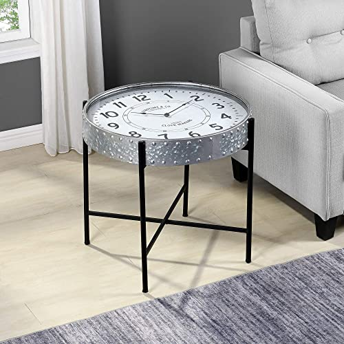 FirsTime Co. Galvanized Clockwork Accent Table
