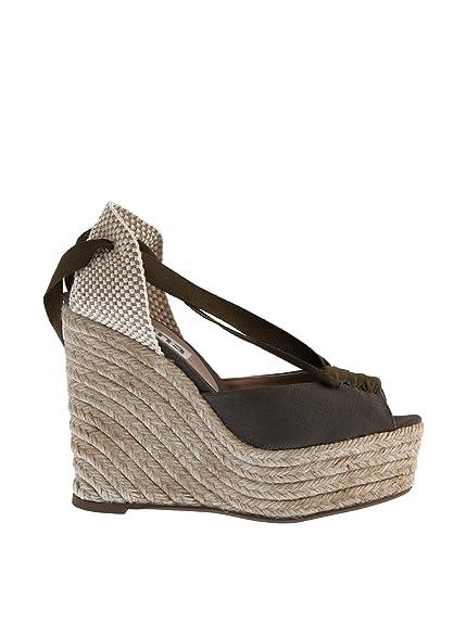 Sienna cuña cáñamo Lazos, Alpargatas para Mujer, Verde Oliva, 38 EU: Amazon.es: Zapatos y complementos