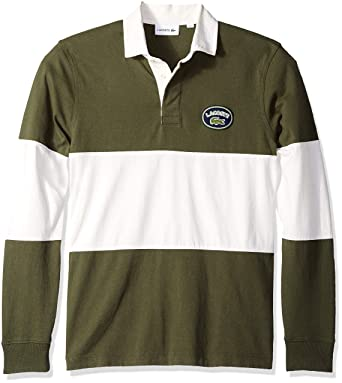 4f759021c696 Lacoste Men s Long Sleeve Colorblock Heritage France Rugby at Amazon Men s  Clothing store