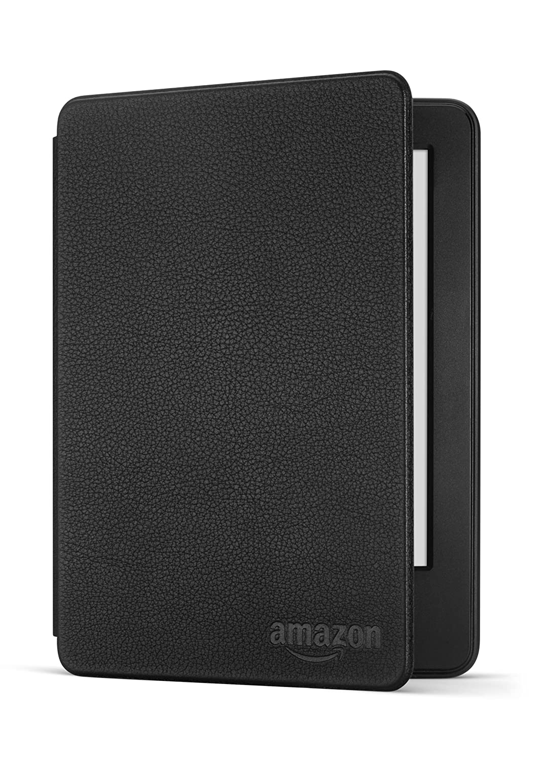Protective Leather Cover for Kindle (7th Generation), Black - will not fit previous generation Kindle devices