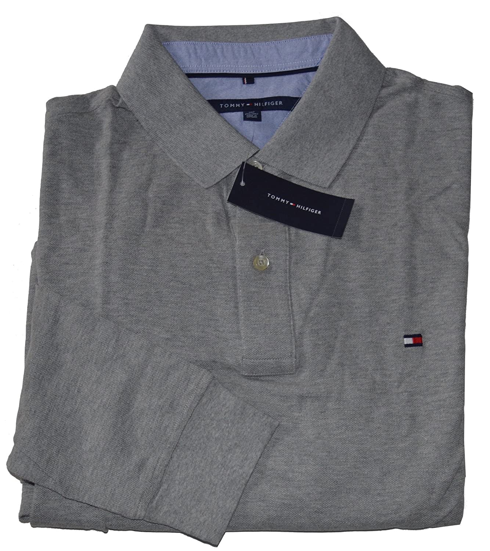 Tommy Hilfiger – Camiseta de manga larga de malla Big & Tall polo ...