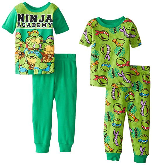 Teenage Mutant Ninja Turtles Little Boys TMNT Ninja Academy Four-Piece Pajama Set