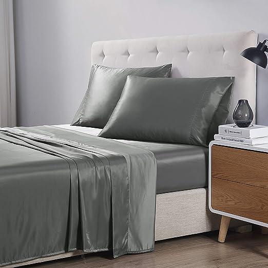 "Geometric Printed 4-Pcs Sheet Set 16/"" Deep Pocket Bed Sheets Microfiber Bedding"