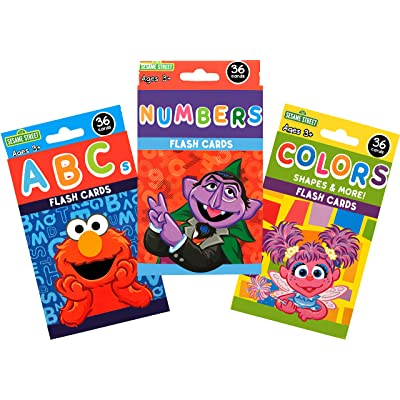 Sesame Street Early Learning Flash Card Bundle (Flash Cards - Set of 3): Toys & Games