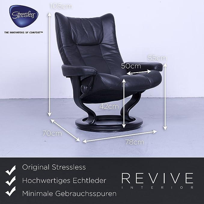 Ekornes Stressless Wing Relax Sessel Schwarz Leder Größe M ...