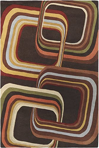 Surya Forum FM-7007 Hand Tufted 100 Wool Coffee Bean 10 x 14 Area Rug