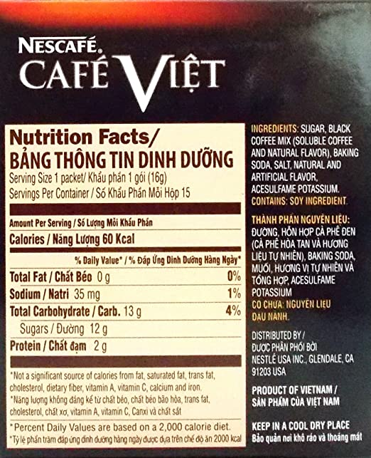Nescafe Instant Coffee Nutrition Facts Besto Blog