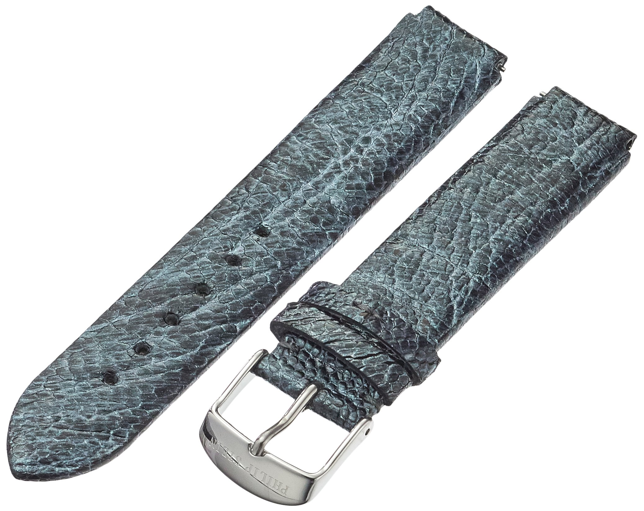 Philip Stein 1-OGM 18mm Leather Ostrich Grey Watch Strap