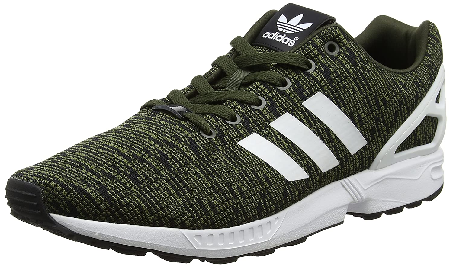 adidas Herren ZX Flux Laufschuhe  38 2/3 EU|Gr眉n (Night Cargo/Footwear White/Core Black)