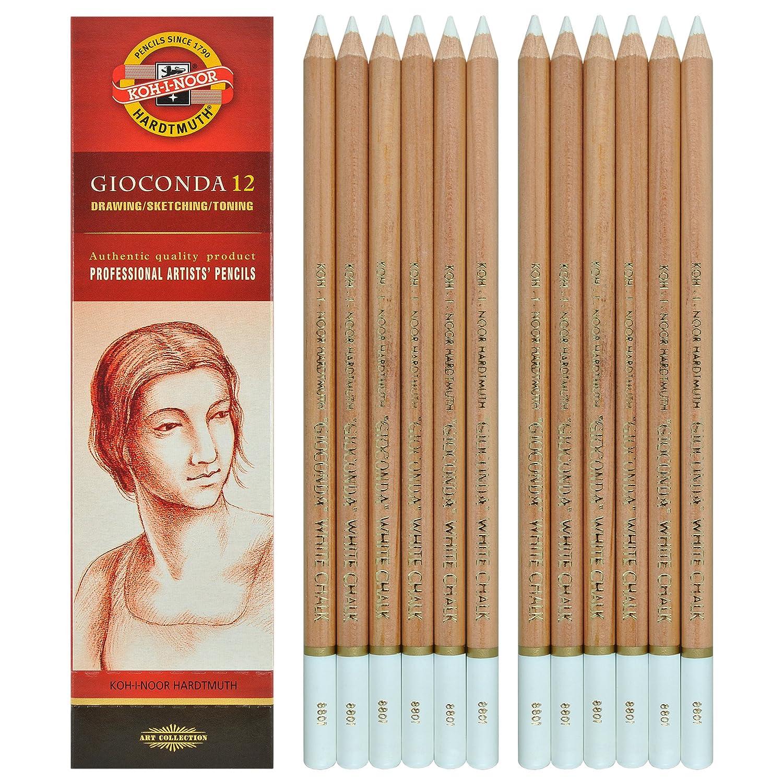 Koh-I-Noor Gioconda –  Blanc craie. 12 crayons. 8801