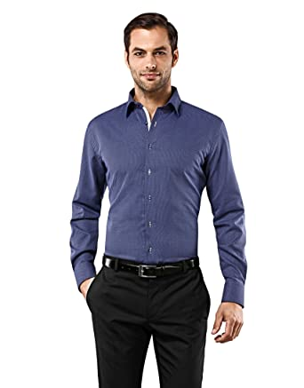 Vincenzo Boretti Camisa Hombre Azul Marino 37/38 cm (14.5/15 ...