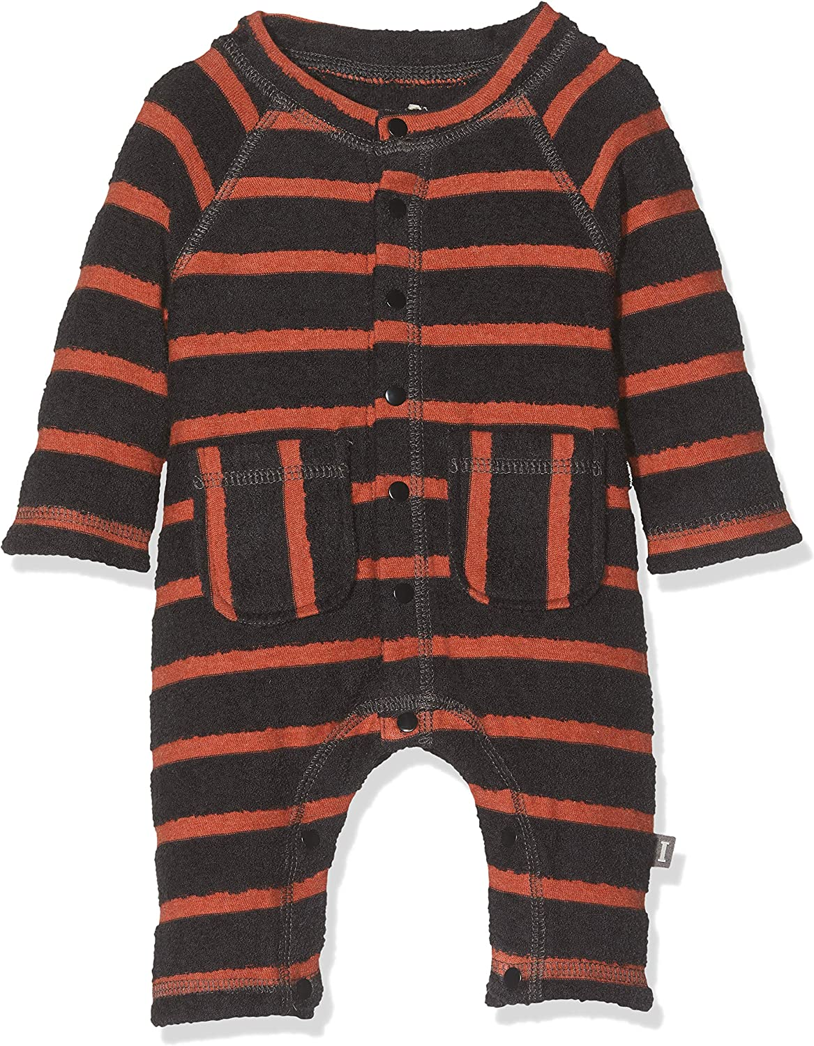 Imps /& Elfs Baby Boys Overall Long Sleeve Romper