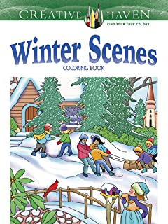 Creative Haven Winter Scenes Coloring Book Adult