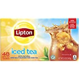 Lipton Family-Sized Black Iced Tea Bags, Unsweetened 48 ct