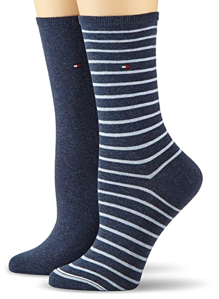 Tommy Hilfiger TH WOMEN SMALL STRIPE 2P - Calcetines para mujer: Amazon.es: Ropa y accesorios
