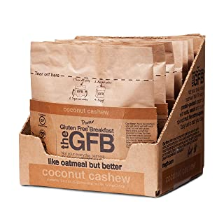 The GFB Protein Oatmeal Cup (Pop-up), Coconut Cashew, 2 Ounce (Pack of 6), Gluten Free, Non GMO